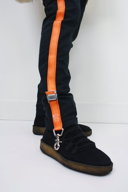 Image of 3M NIGHTCRAWLER SLIM PANTS - LAVA/BLACK