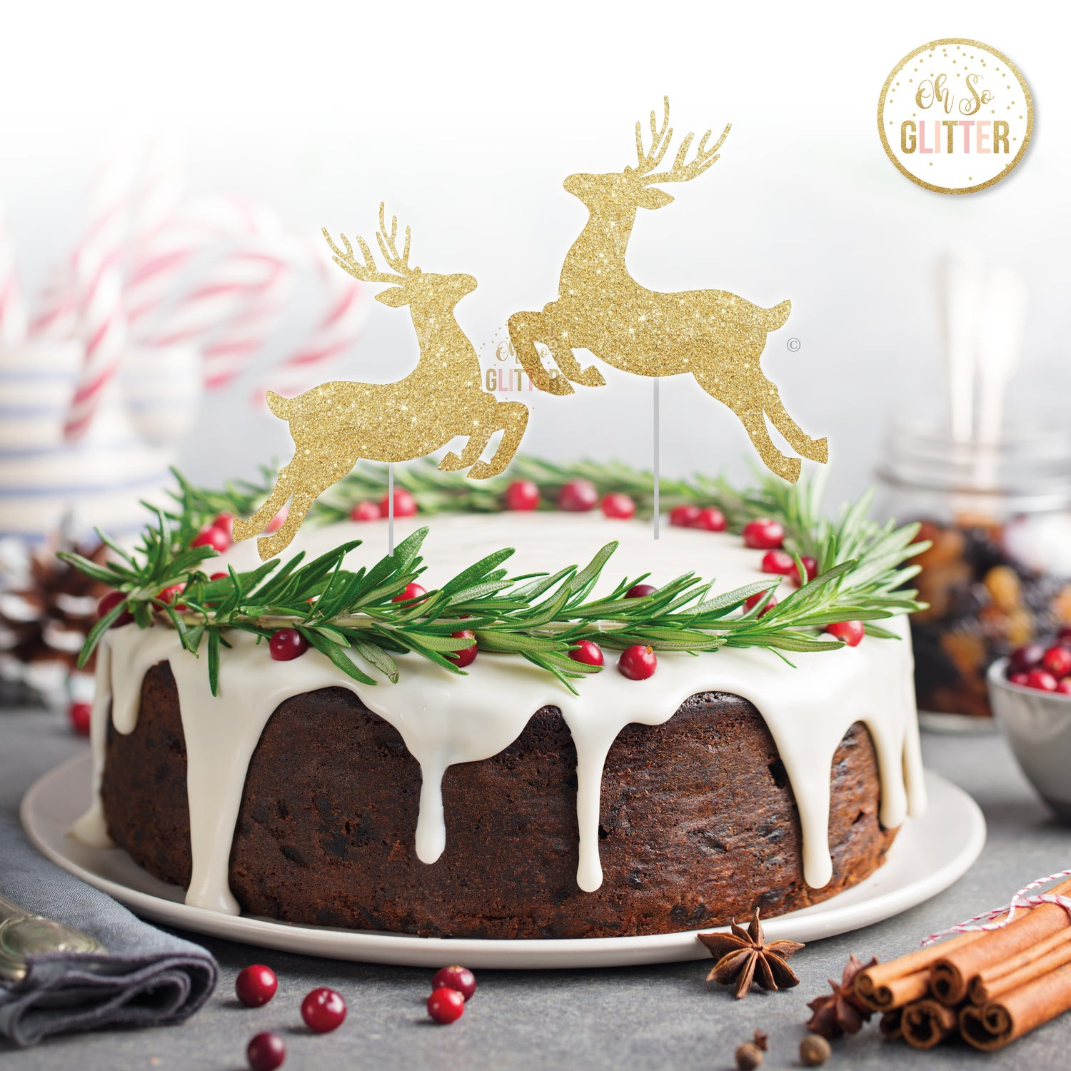 Image of Deer cake toppers (pack of 2)