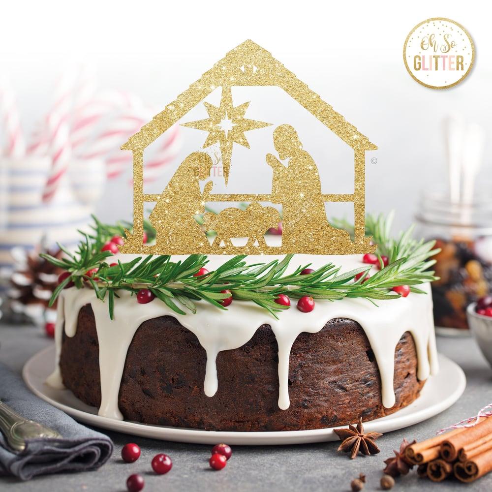 Image of Nativity Cake topper