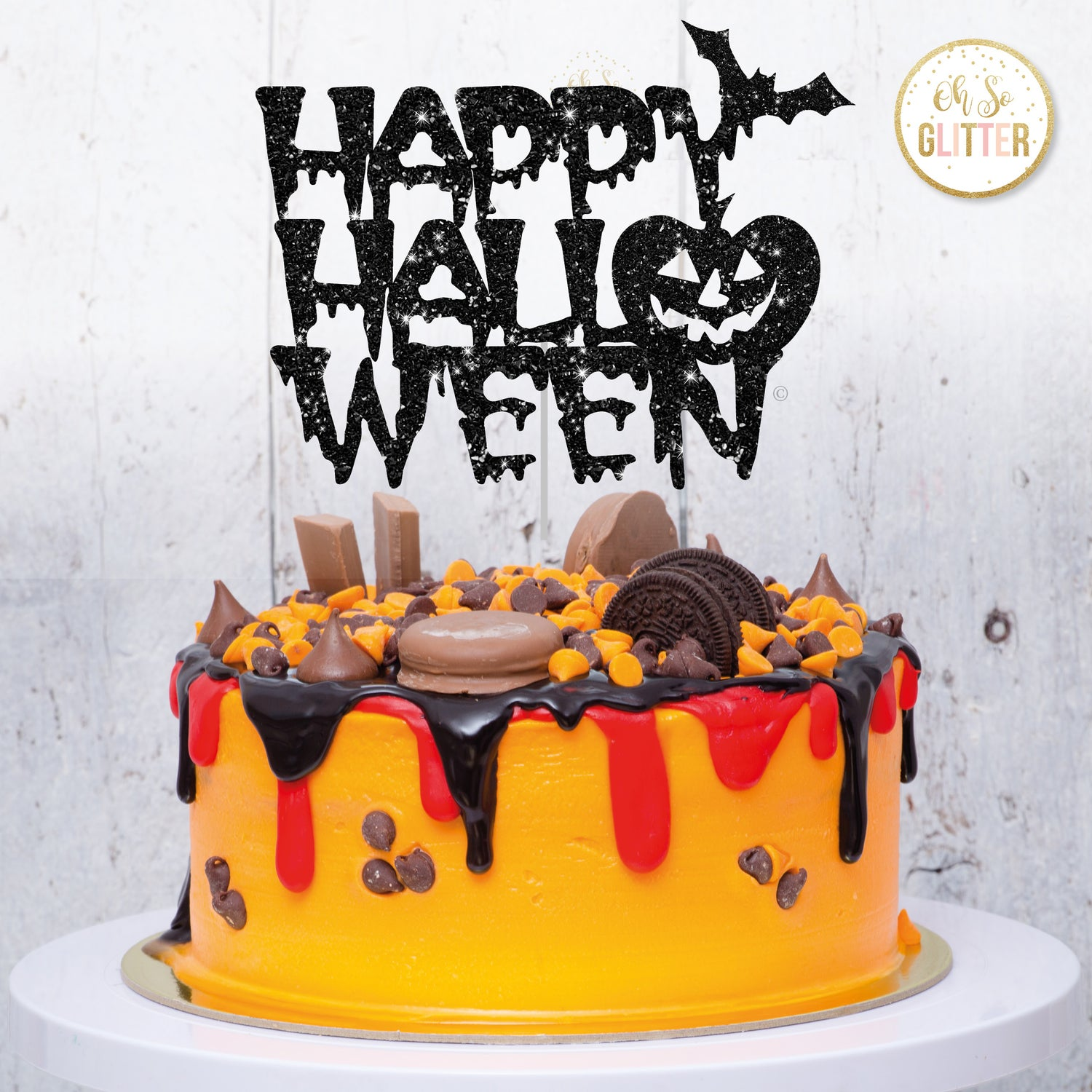 Image of Happy Halloween cake topper