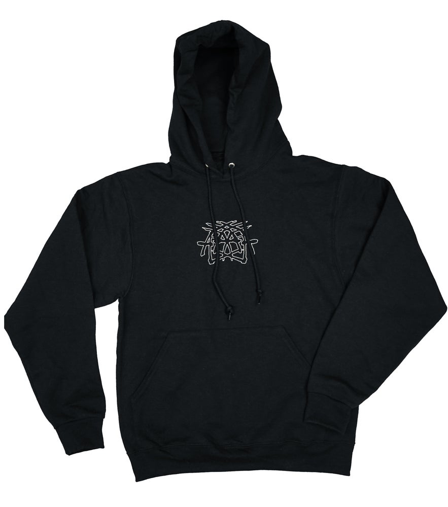 Image of Criss Cross - Embroidered Hoodie