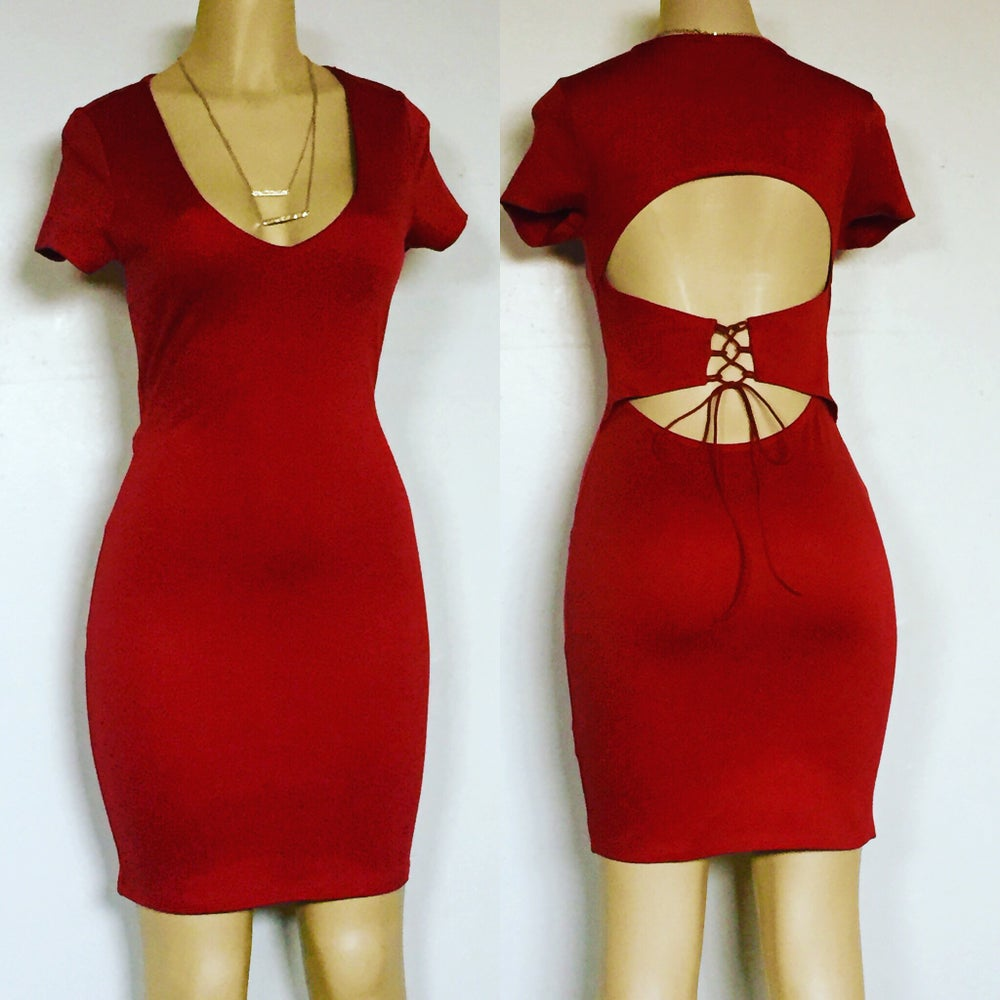 Image of Form fitting midi dress