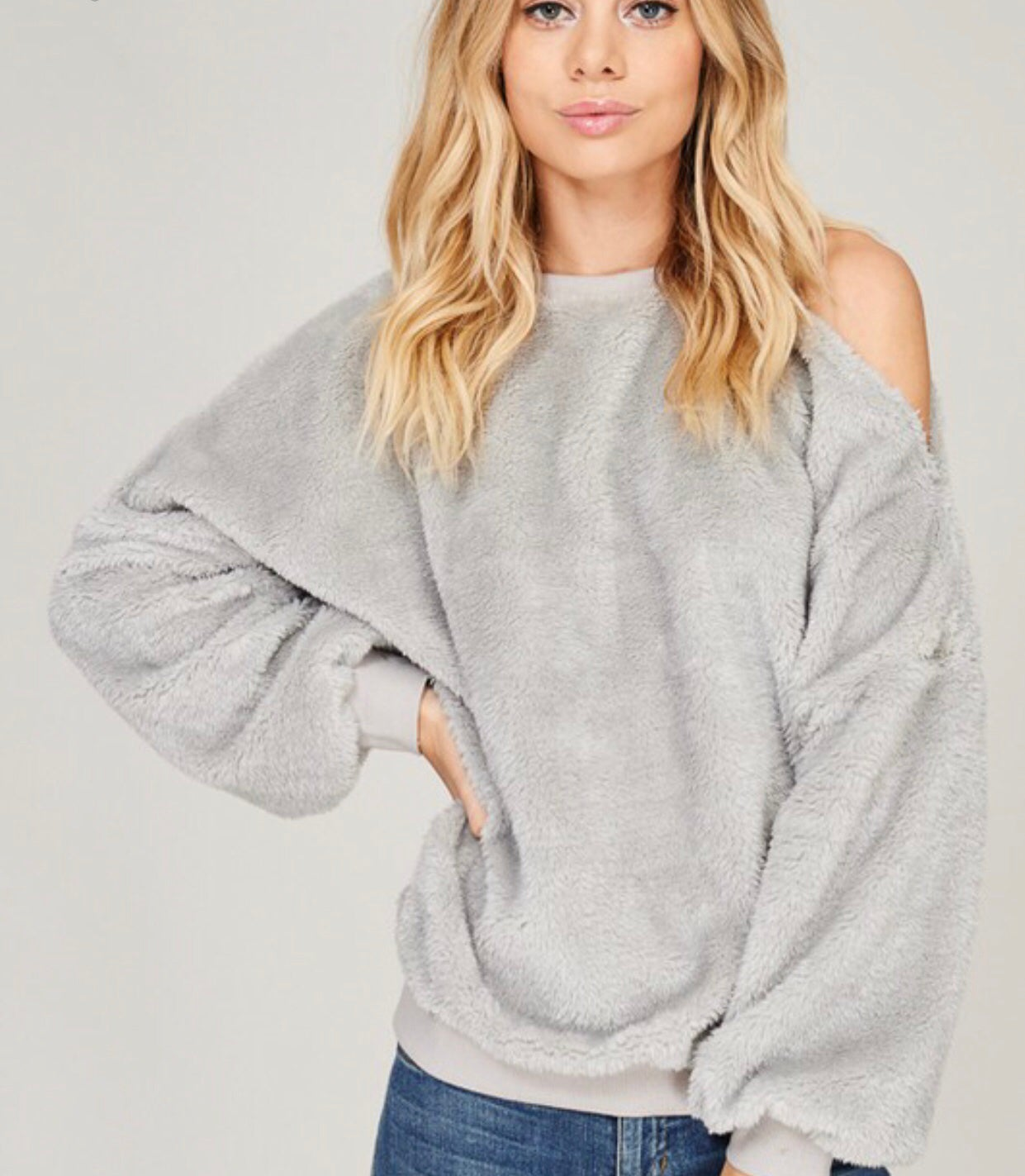 Image of Furry Sweatshirt (Grey)