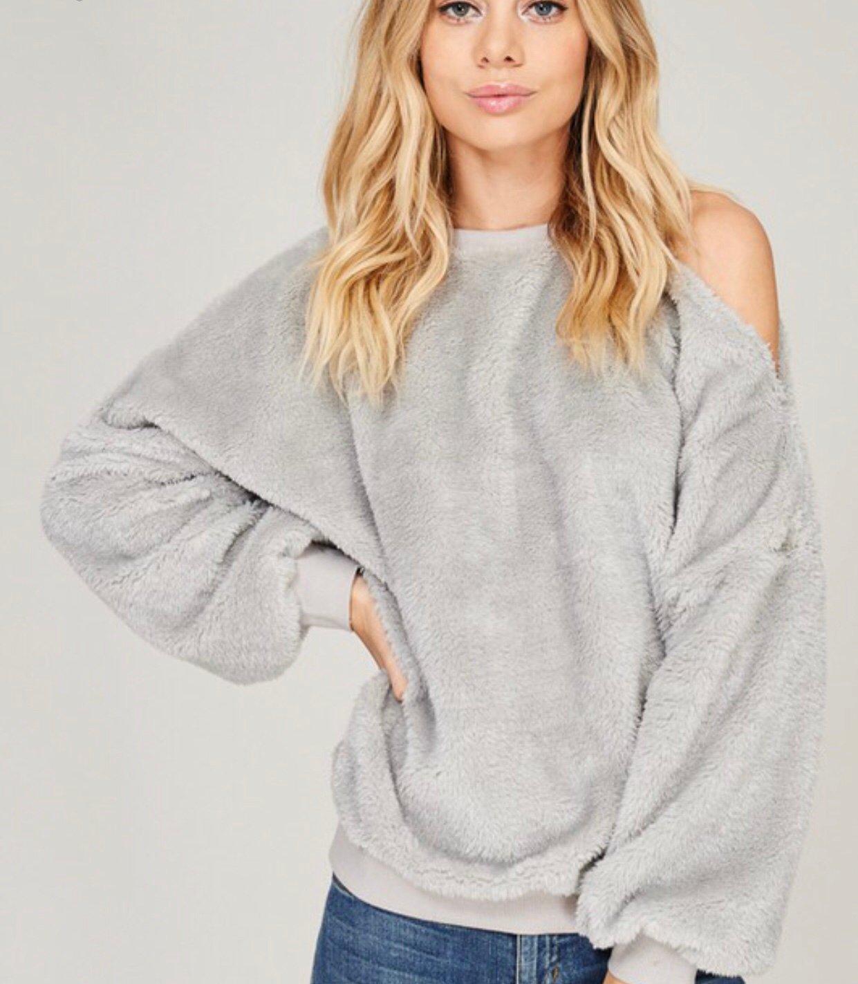 Image of Furry Sweatshirt (Grey)