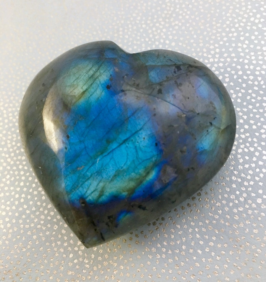 Image of Labradorite Puffy Hearts