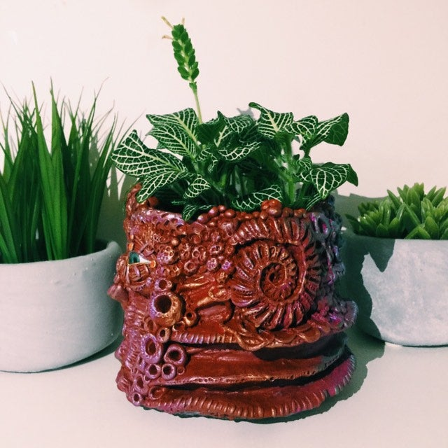 Image of Labyrinth hand made flower pot