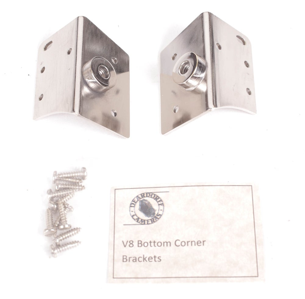 Image of Deardorff V8 Camera Bottom Corner Brackets + Screws