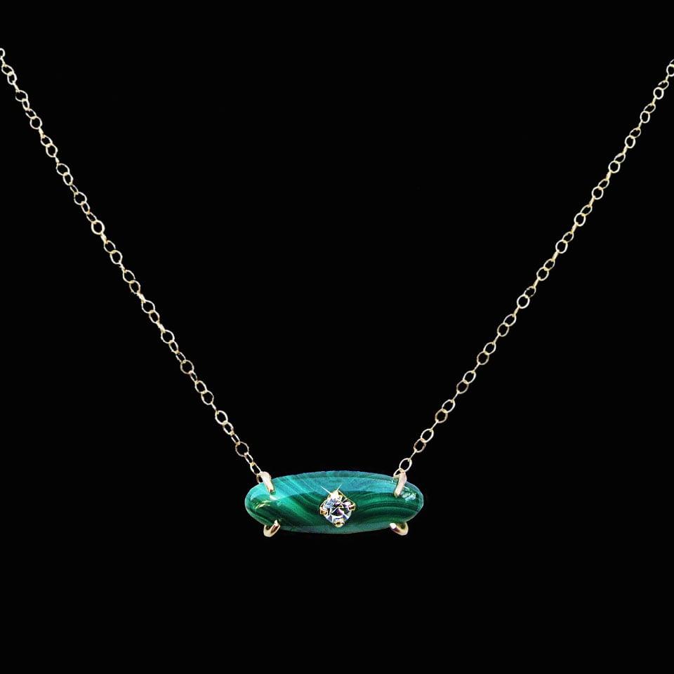 Image of Malachite Bar Necklace