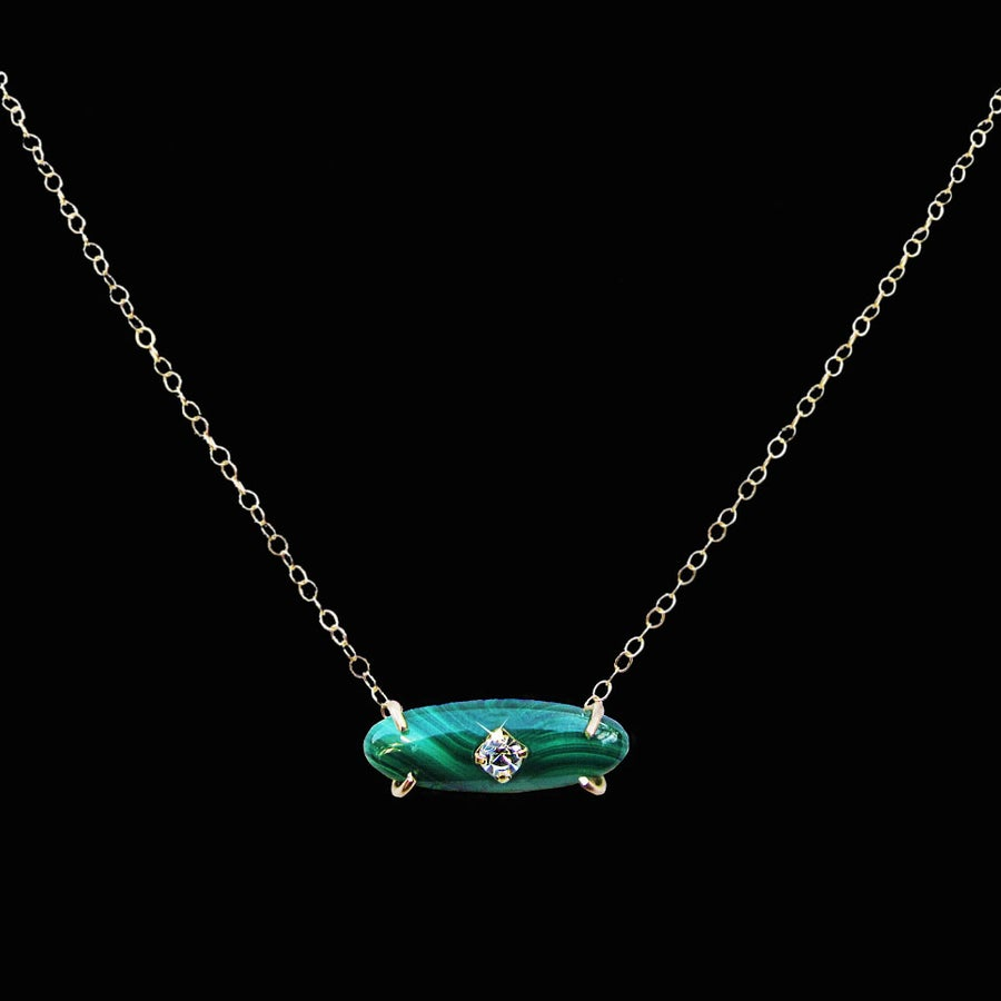 Image of Malachite Bar Necklace