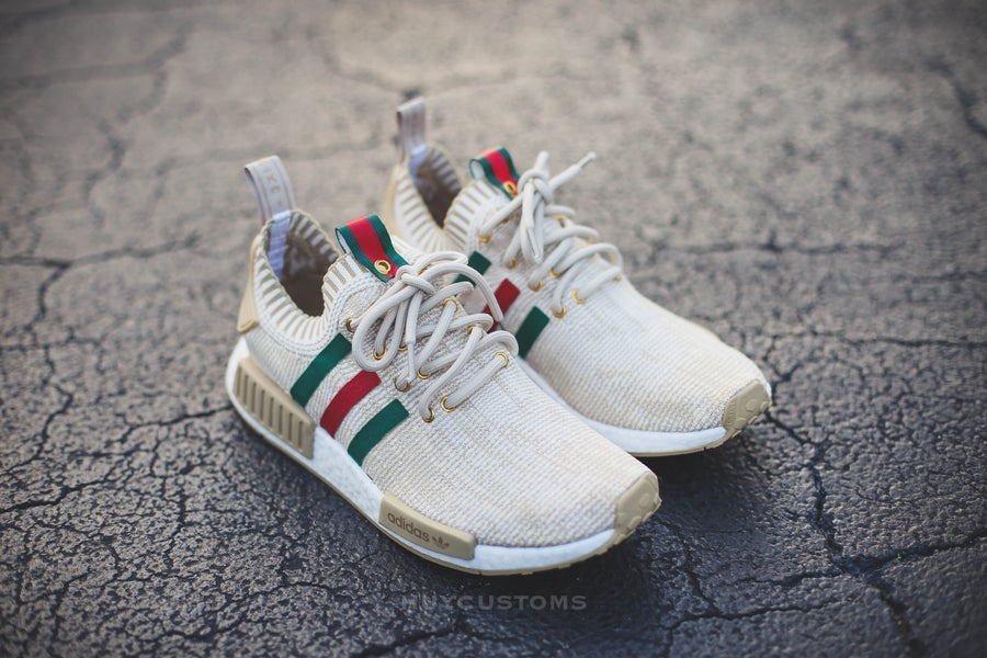 "Image of Nmd Beige ""Italy"" custom"