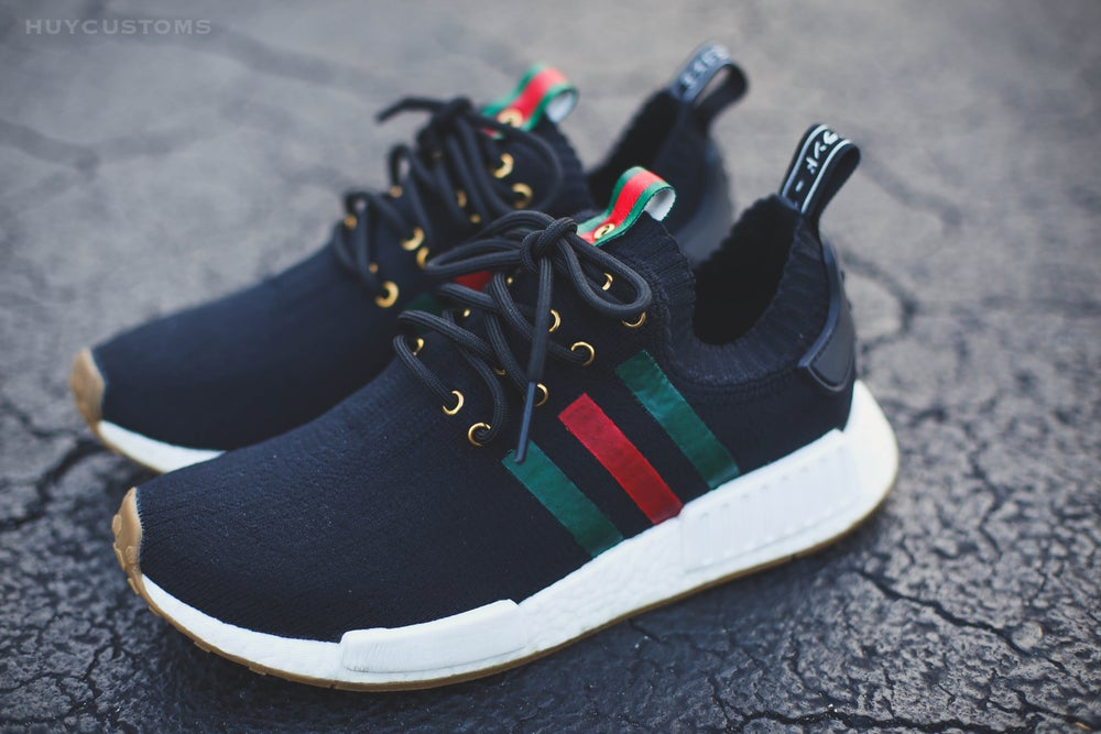 "Image of NMD Black ""Italy"" custom"