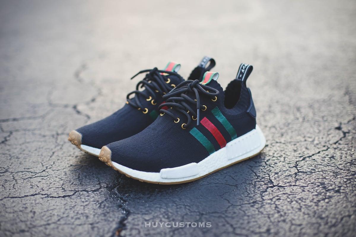 "Image of NMD Black ""Italy"" custom"