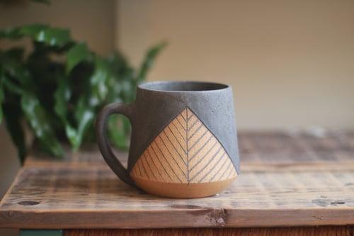Image of Matte Charcoal Pyramid Mug