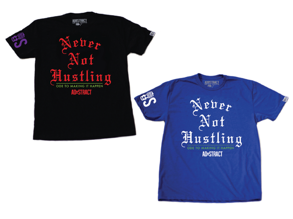 "Image of NEVER NOT HUSTLING ""MARVIN/BLACK OR SEAHAWK""  TSHIRT"