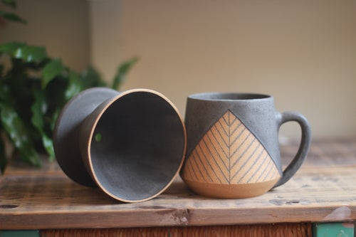Image of Matte Charcoal Pyramid Coffee Pour-Over Set