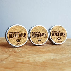 Image of Beard Balm - Manly Fragrance - Leather Scent - All Natural Organic Handmade in Small Batches 2 oz.