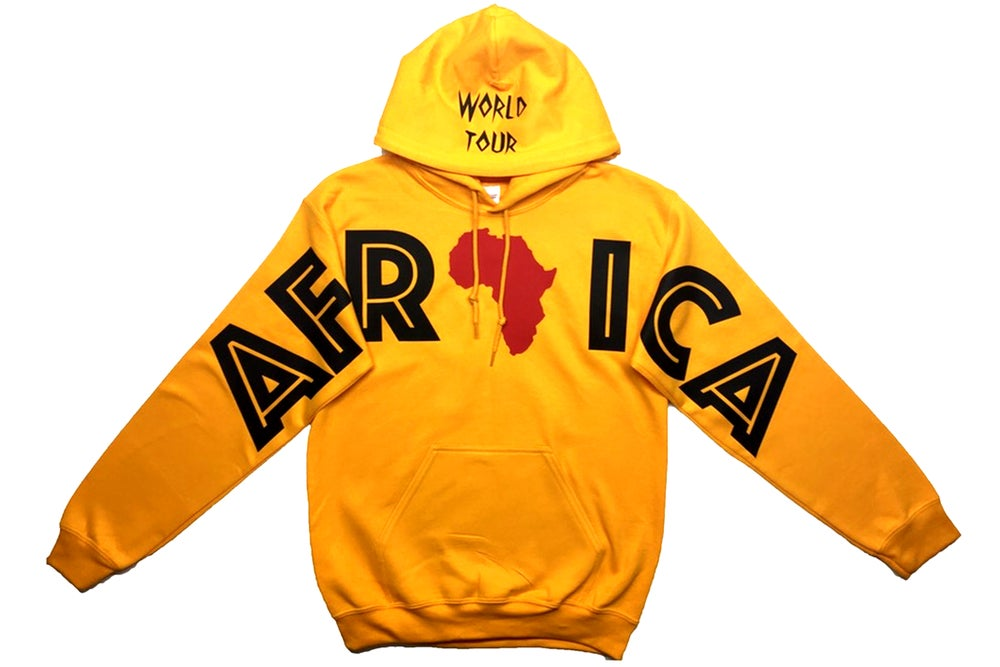 """Image of World Tour """"AFRICA"""" Hoodie Gold"""