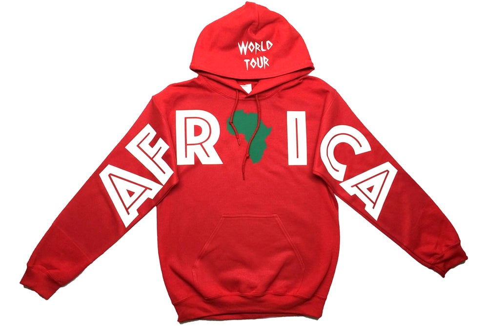 "Image of World Tour ""AFRICA"" Hoodie Red"