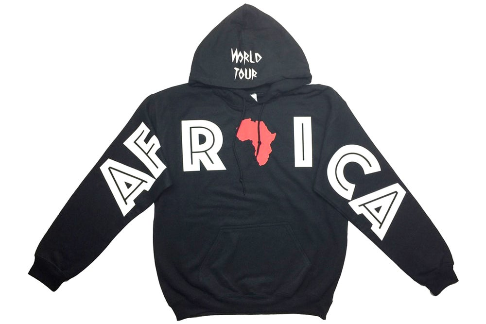 """Image of World Tour """"AFRICA"""" Hoodie Black"""