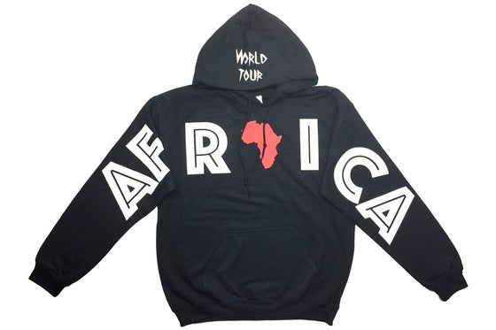 "Image of World Tour ""AFRICA"" Hoodie Black"