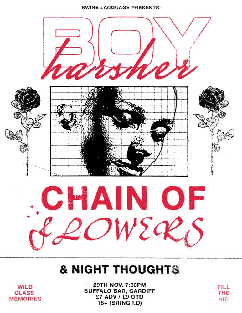 Image of BOY HARSHER (USA), CHAIN OF FLOWERS + NIGHT THOUGHTS @ BUFFALO, CARDIFF