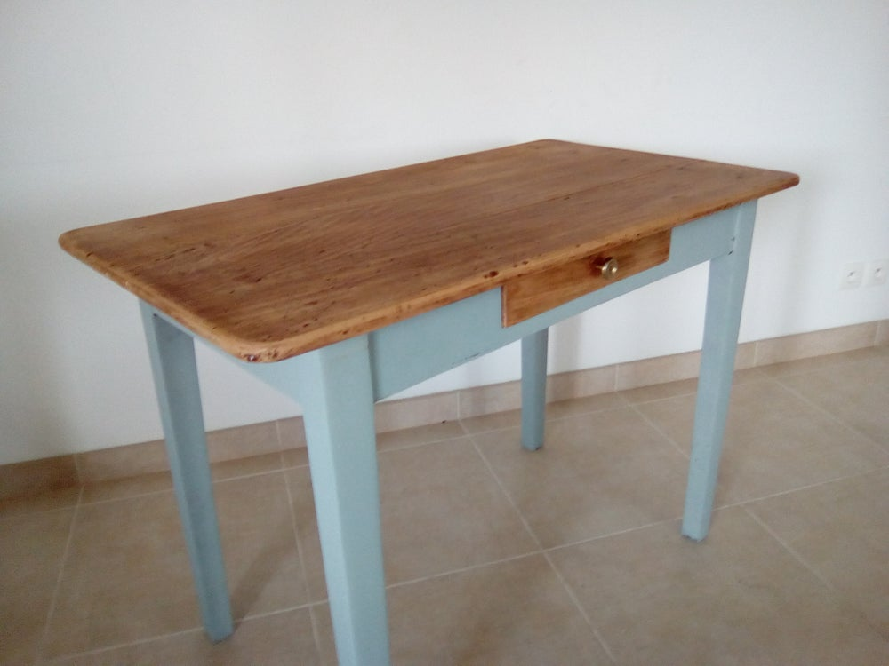 Image of Petite table ancienne esprit shabby chic