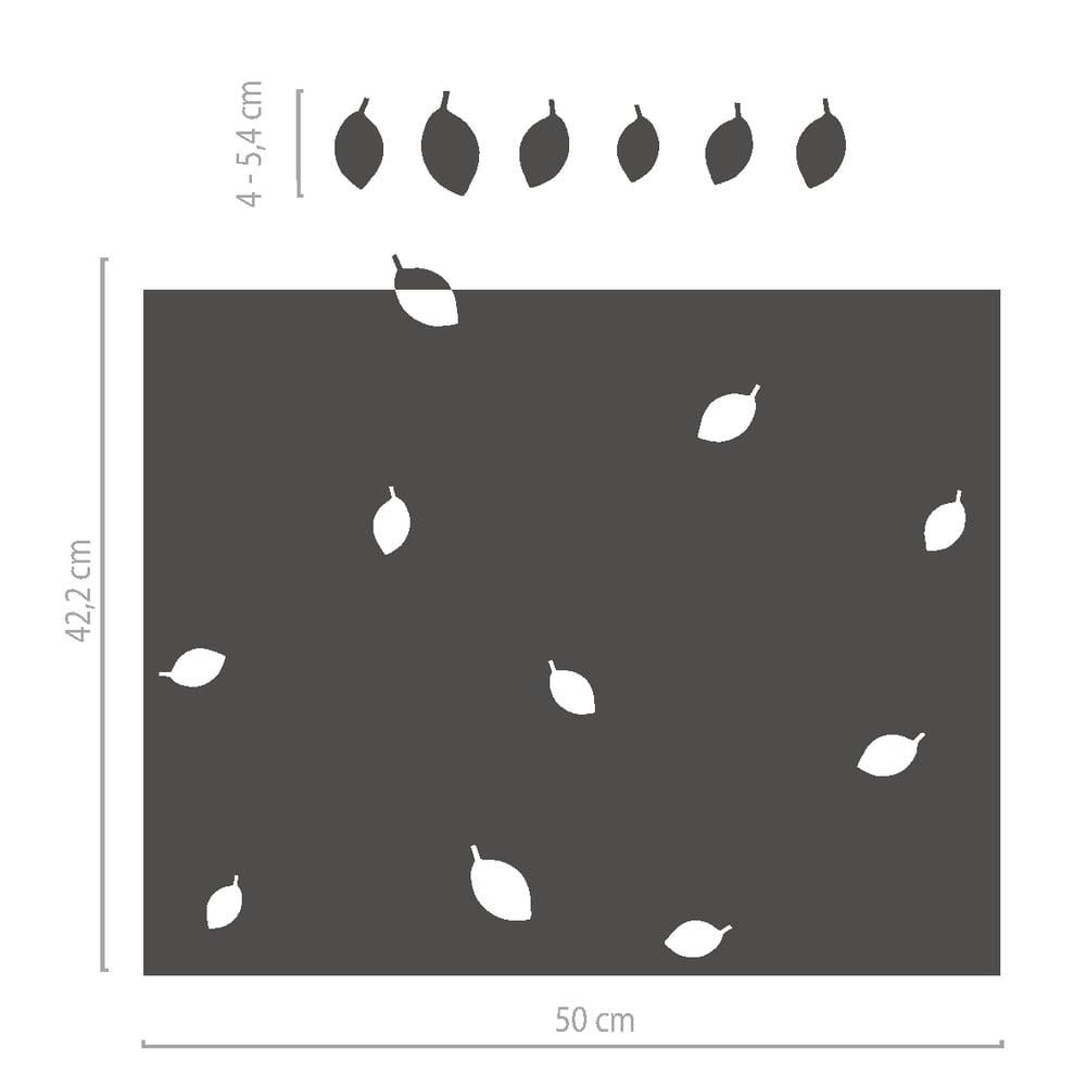Image of Sichtschutz Milchglasfolie dekorativ mit Blättern