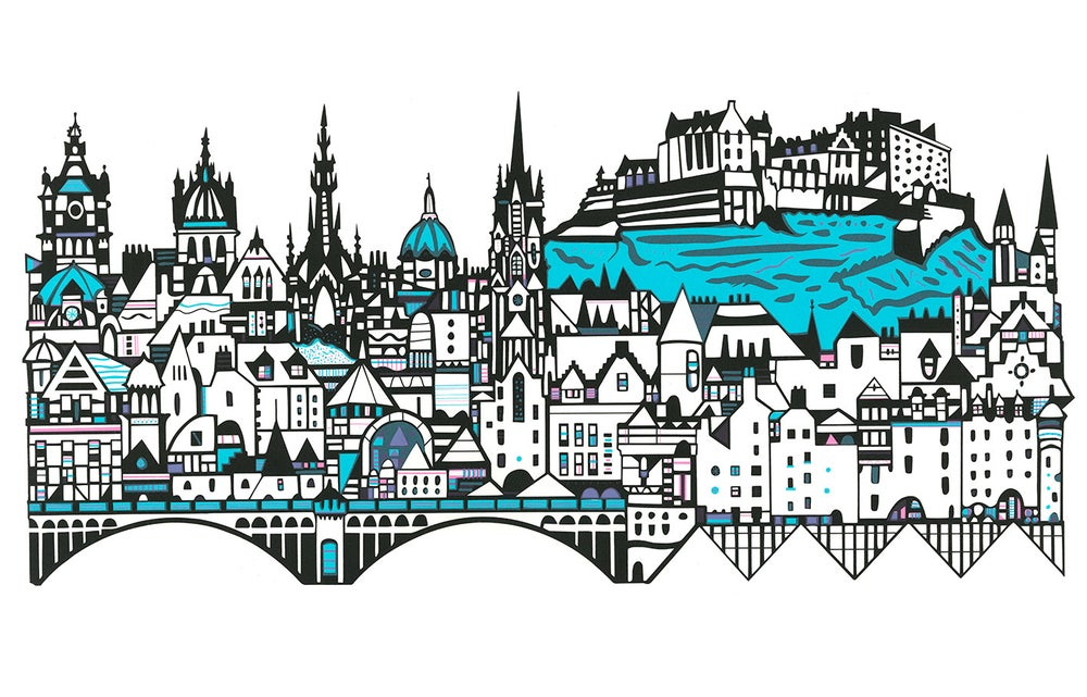 Image of Edinburgh Skyline large screen print