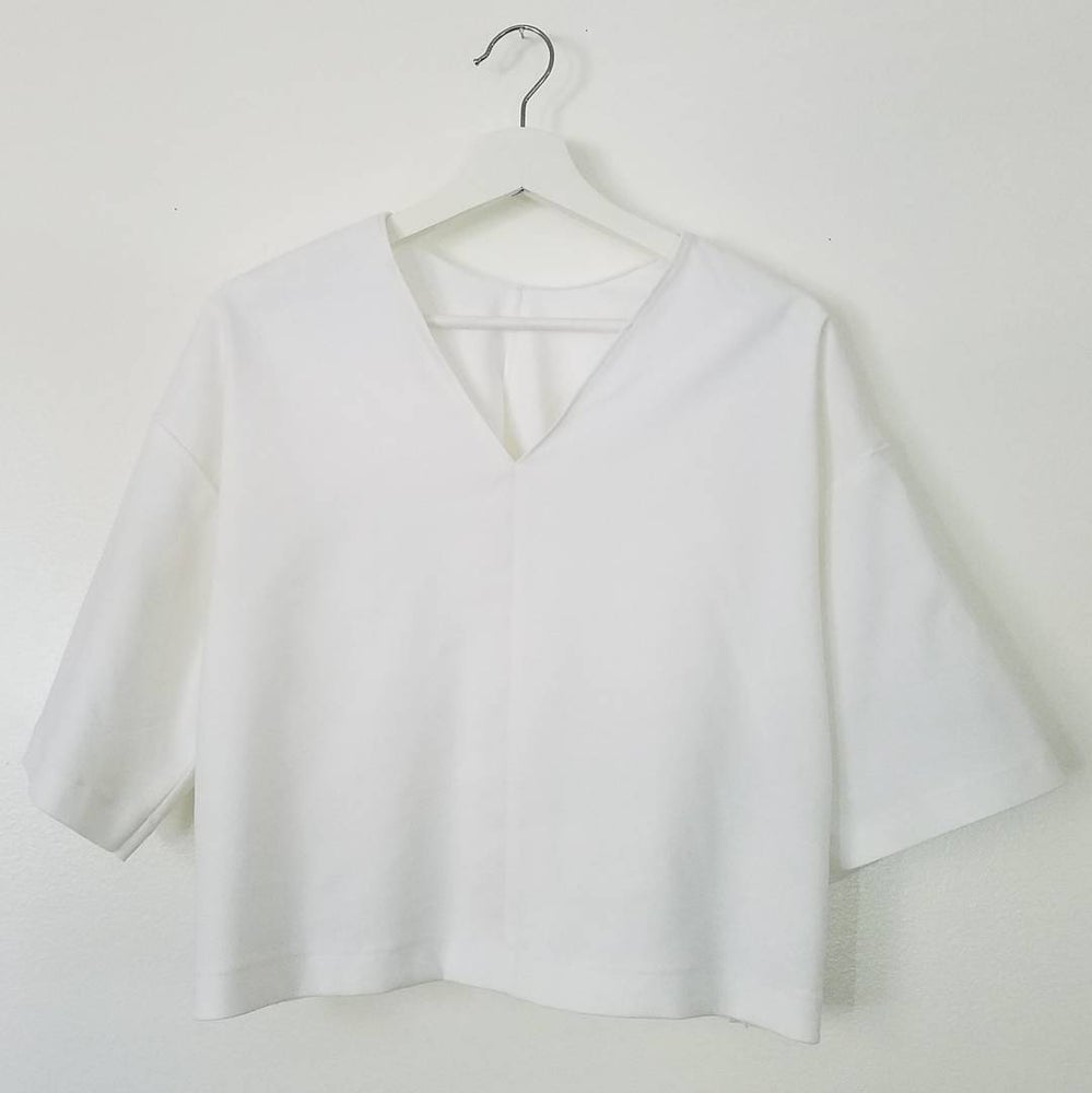 Image of Winter White Baggy Crop Top