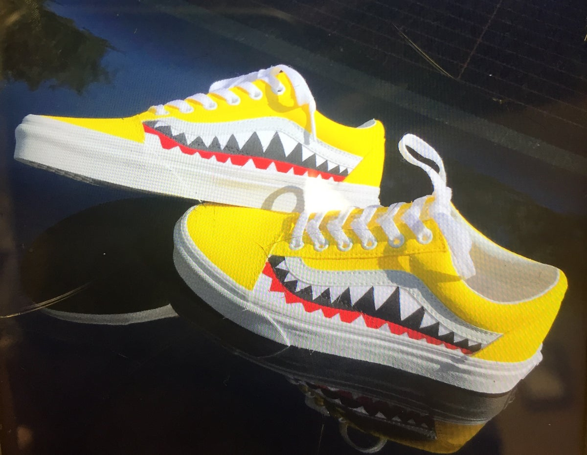 8ac579ad00be Yellow Bape Vans