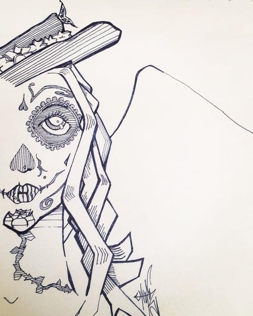 Image of Dia De Los Muertos drawing