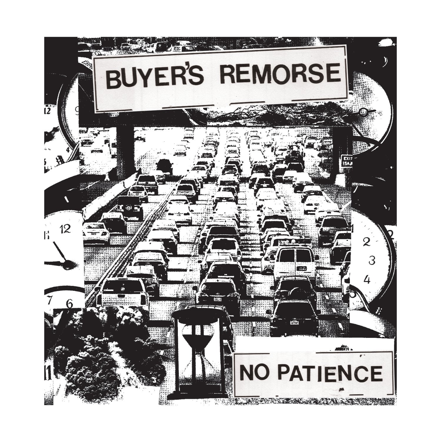 "Image of Buyer's Remorse ""No Patience"" Shirt (White ink, black shirt)"