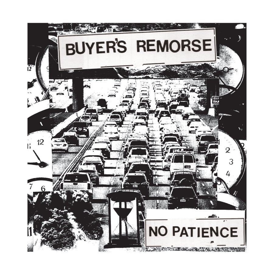 """Image of Buyer's Remorse """"No Patience"""" Shirt (White ink, black shirt)"""