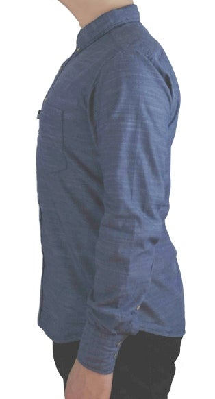 Image of Hobsbawm fitted shirt - Howard blue chambray