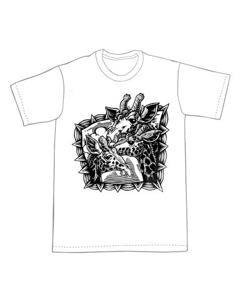 Image of Giraffe Trio T-shirt **FREE SHIPPING**
