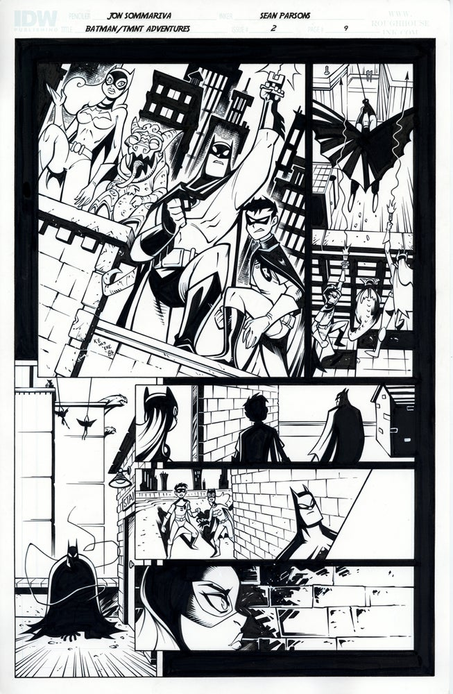 Image of Batman TMNT Adventures 2 Page 9