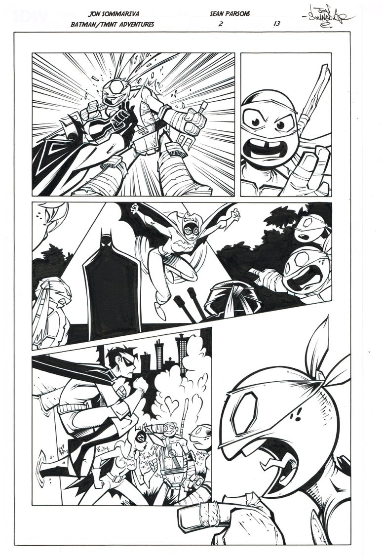 Image of Batman TMNT Adventures 2 Page 13