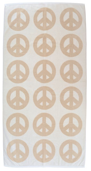 Image of Large Peace Towel <div> Cream & Scour</div>