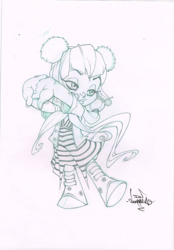 Image of Cute Chibi Girl sketch ORIGINAL ART