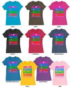 "Image of ""Make a Difference"" Ladies T-Shirt"
