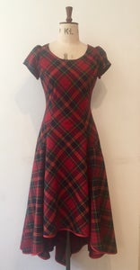Image of Tartan bias dress