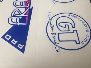 Image of GT Pro Freestyle Tour 1986 decal set