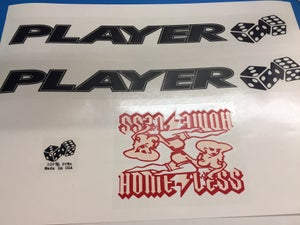 Image of Homeless Player Decal set