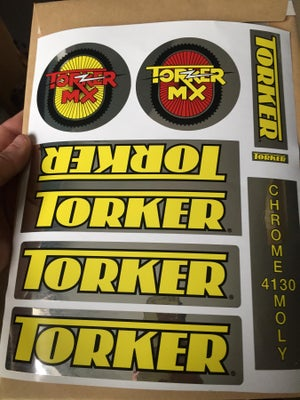 Image of Torker MX Decal set