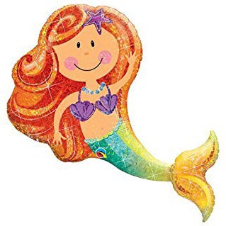 Image of {Merry Mermaid} Mylar Balloon
