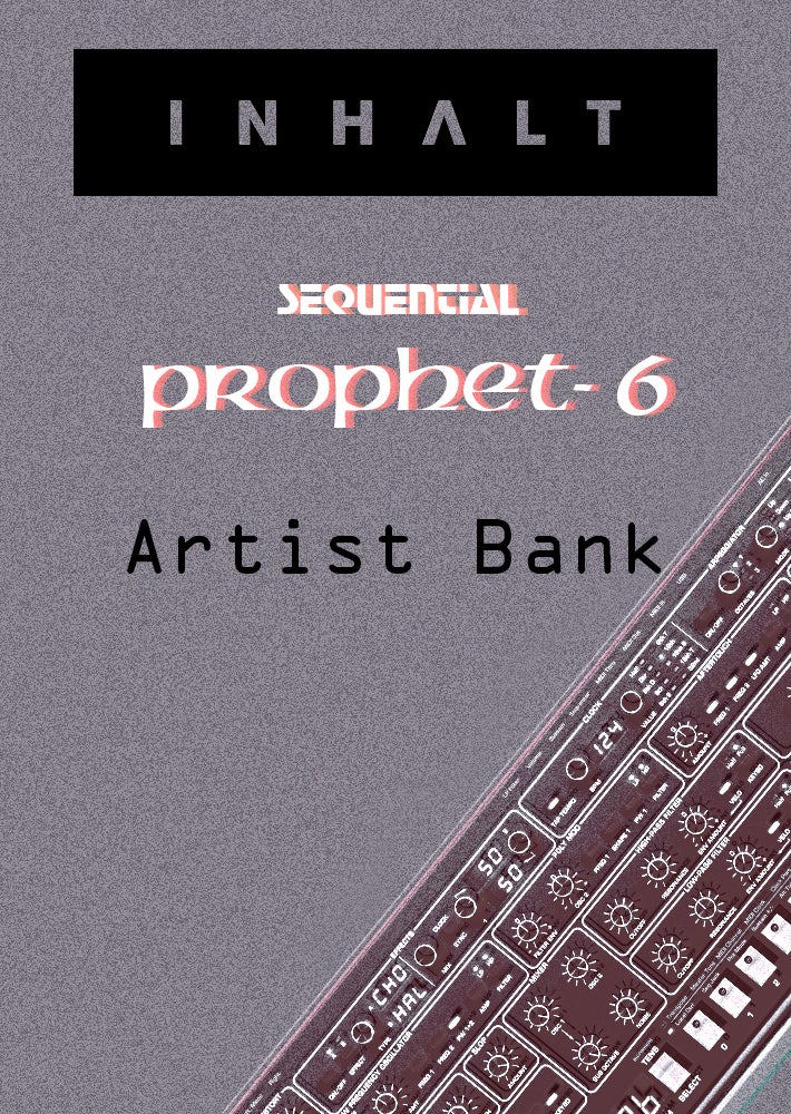 Image of INHALT Sequential Prophet 6 Artist Bank