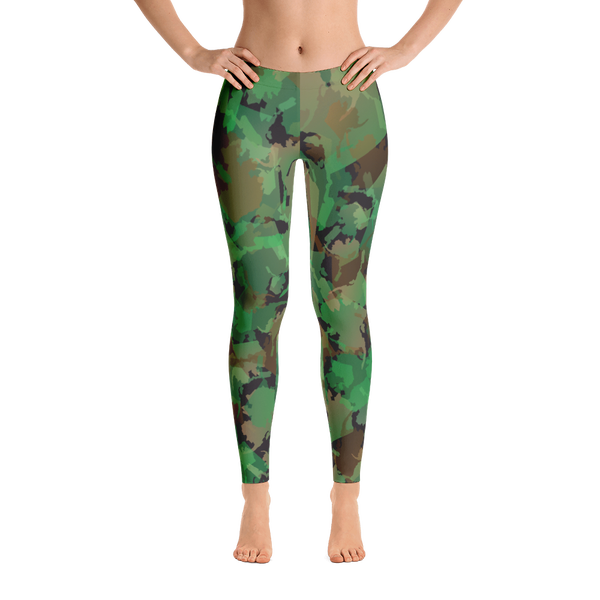 Image of Alaska Pattern Leggings - Camo