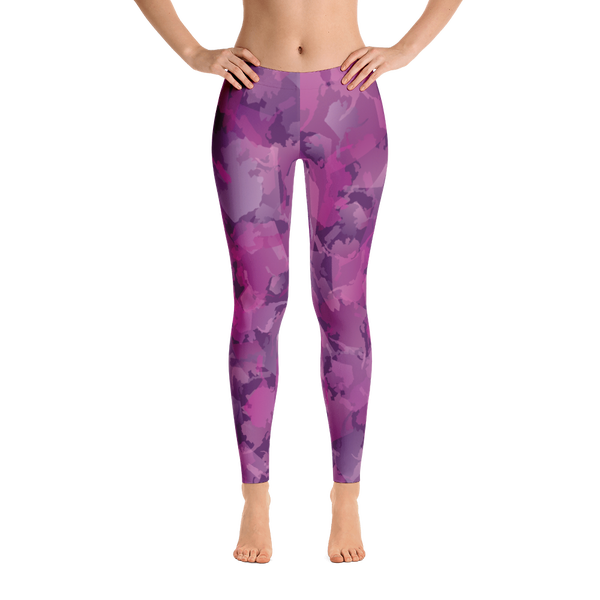 Image of Alaska Pattern Leggings - Blueberry