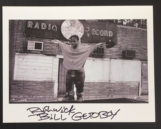 Image of VINTAGE SIGNED PHOTO BUSHWICK BILL