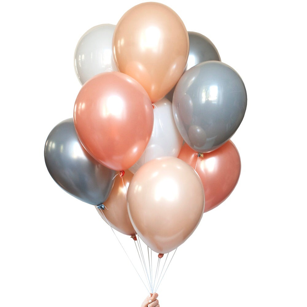 Image of Peachy Boho Balloon Bouquet
